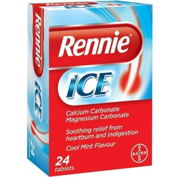 Bayer Rennie Ice 24 CHEW TABS