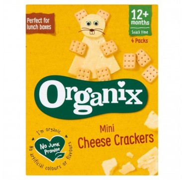 Organix Mini Crackers Τυριού 4x20g
