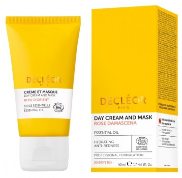 DECLEOR DAY CREAM AND MASK ROSE DAMASCENA 50ML