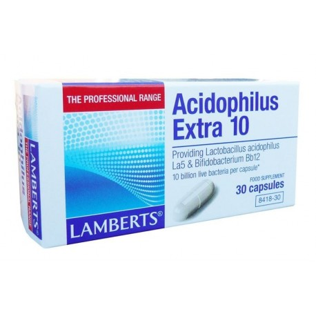 LAMBERTS ACIDOPHILUS EXTRA 10 MILK FREE 30caps