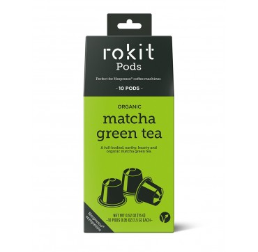 Rokit Pods Organic Matcha Green Tea -Συμβατές Με Μηχανές Nespresso- 10pods