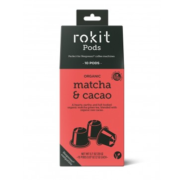 Rokit Pods Organic Matcha & Cacao -Συμβατές Με Μηχανές Nespresso- 10pods