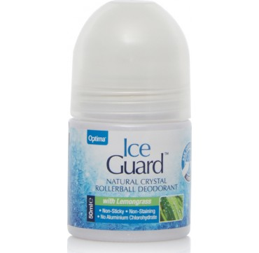 Optima Naturals Ice Guard Natural Crystal Deo Lemongrass 50ml