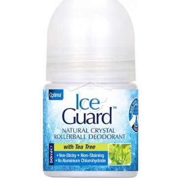 Optima Naturals Ice Guard Natural Crystal Deo Tea Tree 50ml