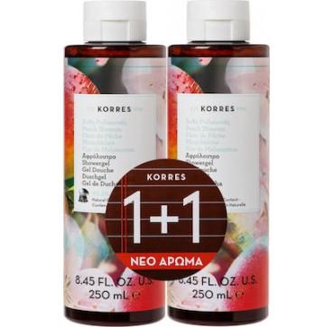 Korres Peach Blossom Shower Gel (1+1ΔΩΡΟ) 2x250ml