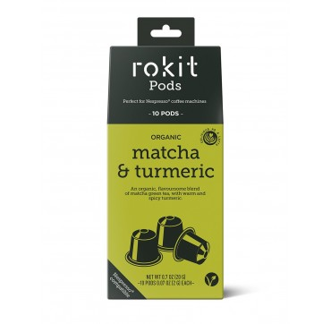 Rokit Pods Organic Matcha & Turmeric -συμβατές Με Μηχανές Nespresso- 10pods