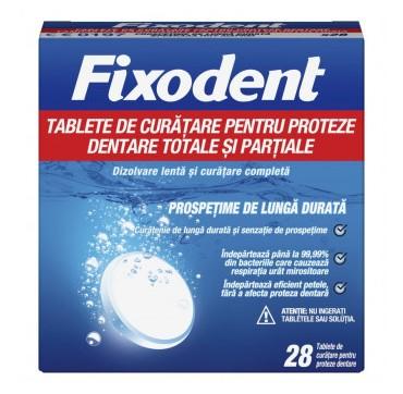 Fixodent Ταμπλέτες Καθαρισμού για Ολικές & Μερικές Τεχνητές Οδοντοστοιχίες 28 TABS