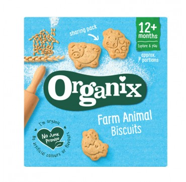 ORGANIX ORGANIC FARM ANIMAL BISCUITS 12m+ ΒΙΟΛΟΓΙΚΑ ΜΠΙΣΚΟΤΑ ΣΕ ΣΧΗΜΑ ΖΩΑΚΙΑ 100G