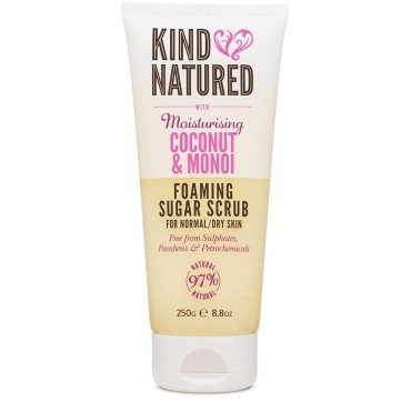 Kind Natured Creamy Body Scrub With Deeply Foaming Sugar Scrub With Moisturising Coconut & Monoi 250g