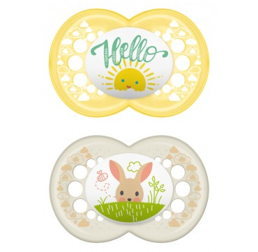 MAM Hello Spring Πιπίλα Σιλικόνης (6-16 Μηνών) 2TMX