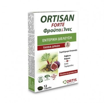 ORTIS LABS - ORTISAN FORTE FRUITS & FIBRES ΤΑΧΕΙΑ ΔΡΑΣΗ 12TMX
