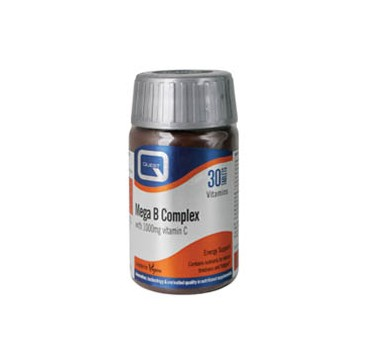 Quest Mega B Complex with 1000mg Vitamin C 60tabs