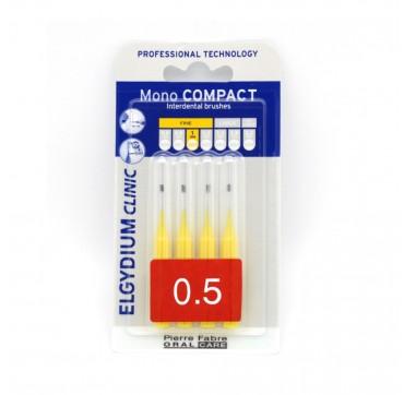 Elgydium Mono Compact Μεσοδόντια Βουρτσάκια Κίτρινο 0.5mm 4tmx