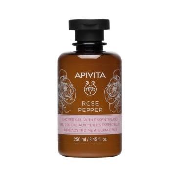 Apivita Rose Pepper Shower Gel Αφρόλουτρο με Αιθέρια Έλαια 250ml
