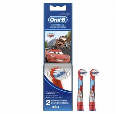 Oral-b Kids Disney Cars Ανταλλακτικά Βουρτσάκια 3+years 2τμχ
