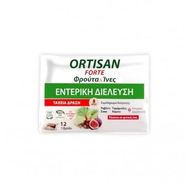 Ortis Labs - Ortisan Forte Φρούτα & Ίνες Εντερική Διέλευση 12φρουτοκυβοι