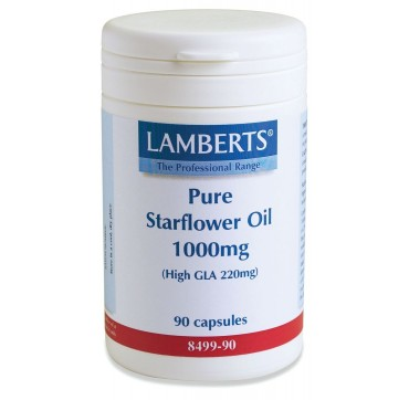 LAMBERTS PURE STARFLOWER OIL 1000mg (High GLA 220mg) 90caps