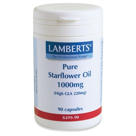 LAMBERTS PURE STARFLOWER OIL 1000mg (High GLA 220mg) 90caps