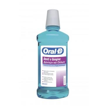 Oral-b Mouthwash Στοματικό Διάλυμα Δοντιών & Ούλων Χωρίς Οινόπνευμα 500ml