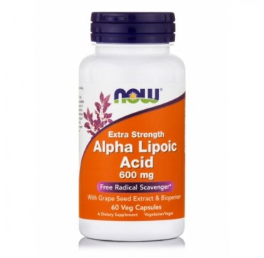 Now Alpha Lipoic Acid Extra Strength 600mg 60vcaps