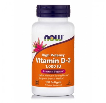 NOW VITAMIN D-3 1000 IU 180 SOFTGEL