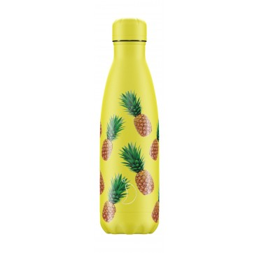 CHILLY'S BOTTLE PINEAPPLE ICON EDITION REUSABLE BOTTLE ΑΝΟΞΕΙΔΩΤΟ ΘΕΡΜΟΣ 500ML