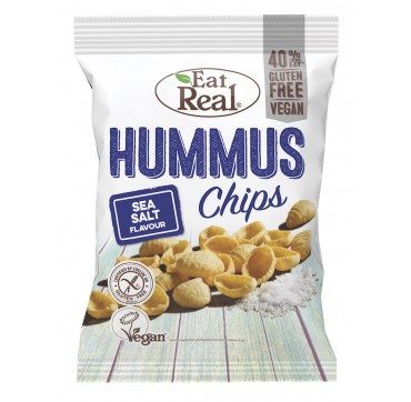 EAT REAL HUMMUS CHIPS SEA SALT FLAVOUR (GLUTEN FREE & VEGAN) 135g