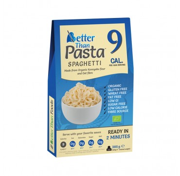 Better Than Pasta Spaghetti Organic Konjac Flour and Organic Oat Fibre (9Cal Per Serving) Βιολογικό Σπαγγέτι Χωρίς Γλουτένη 385G