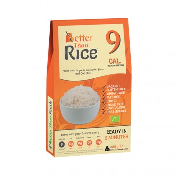 Better Than Rice Organic Konjac Flour and Organic Oat Fibre (9Cal Per Serving) Βιολογικό Ρύζι Χωρίς Γλουτένη 385G