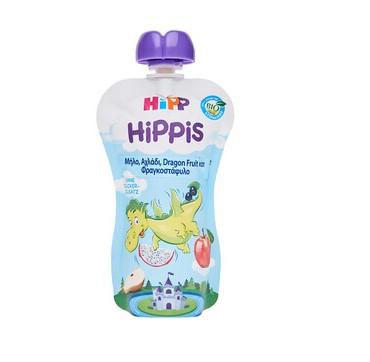 HIPP HIPPIS Bio Παιδικός Φρουτοπολτός Μήλο, Αχλάδι, Dragon Fruit και Φραγκοστάφυλο 100g