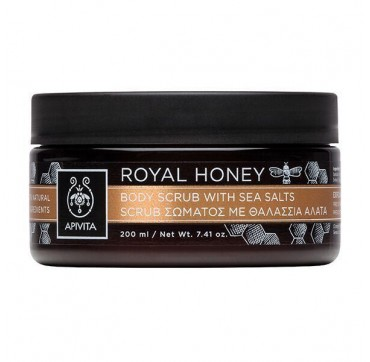 Apivita Royal Honey Body Scrub With Sea Salts 250g