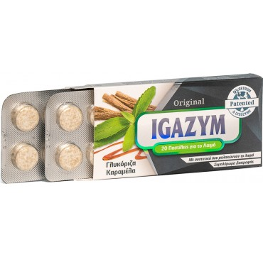 Ils Pharma Igazym Παστίλιες Για Το Λαιμό Γλυκόριζα & Καραμέλα 20τμχ