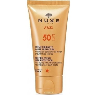 NUXE MELTING CREAM HIGH PROTECTION ΑΝΤΗΛΙΑΚΗ ΚΡΕΜΑ ΠΡΟΣΩΠΟΥ ΥΨΗΛΗΣ ΠΡΟΣΤΑΣΙΑΣ SPF50 50ml