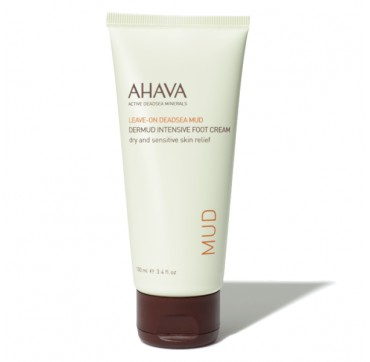 AHAVA Leave-On Deadsea Mud Dermud Foot Cream Dry/Sensitive Skin Relief 100ML