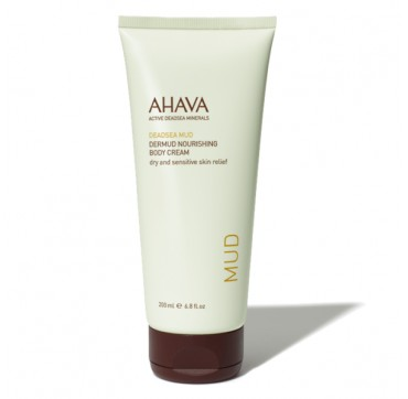 AHAVA Leave-On Deadsea Mud Dermud Nourishing Body Cream Dry/Sensitive Skin Relief 200ML