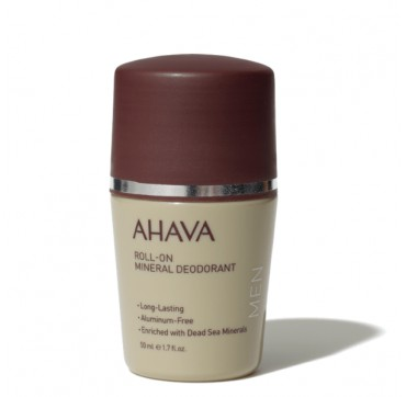 AHAVA Men Time to Energize Roll-On Mineral Deodorant Aluminum-Free 50ML