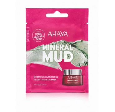 AHAVA Mineral Mud Brightening & Hydrating Facial Treatment Mask Single Use 6ML
