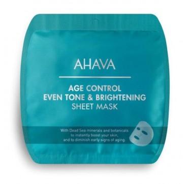 AHAVA Age Control Even Tone & Brightening Sheet Mask 15g