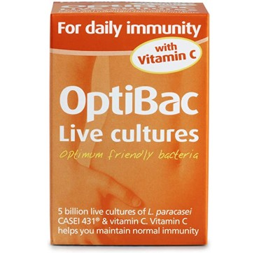 Optibac For Daily Immunity With Vit C 30 Caps