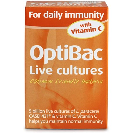OPTIBAC FOR DAILY IMMUNITY WITH VIT C 30 CAPS