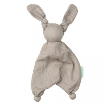 Hoppa Floppy Muslin -κουκλάκι Παρηγοριάς Από Οργανικό Βαμβάκι Grey (100. 600) 1τμχ.