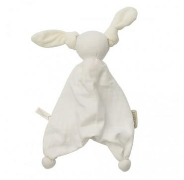 Hoppa Floppy Muslin -κουκλάκι Παρηγοριάς Από Οργανικό Βαμβάκι White 100. 100 1τμχ.
