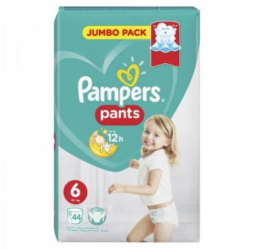 PAMPERS PANTS JUMBO PACK No 6 (15+ kg) 44ΤΜΧ