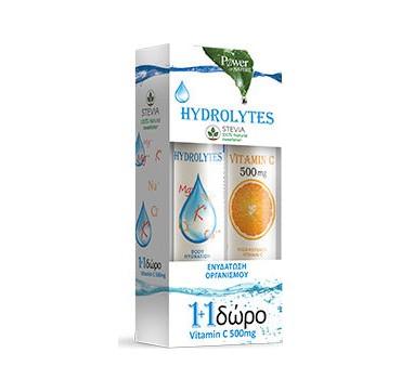 Power Health Hydrolytes Stevia & Vitamin C 500mg 20 + 20 Eff Tabs