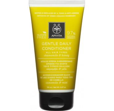 Apivita Conditioner Καθημερινής Χρήσης Για Όλους Τους Τύπους Μαλλιών Με Χαμομήλι Και Μέλι 150ml