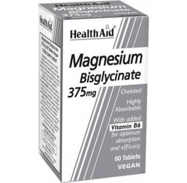 Health Aid Magnesium Bisglycinate Χηλικο Μαγνήσιο 375mg 60tabs