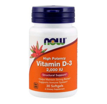Now Vitamin D-3 2000iu 30softgels