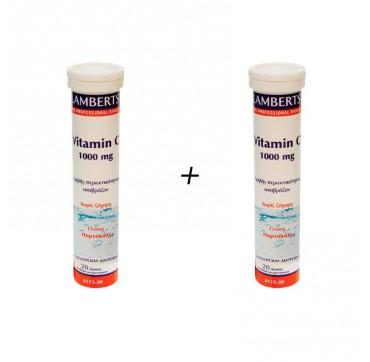 Lamberts Vitamin-c 1000mg Eff. 20tabs 1+1