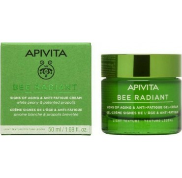 Apivita Bee Radiant White Peony & Patented Propolis Signs Of Aging & Anti-fatigue Cream Light Texture 50ml