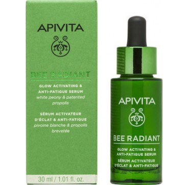 Apivita Bee Radiant White Peony & Patented Propolis Glow Activating & Anti-fatigue Serum 30ml